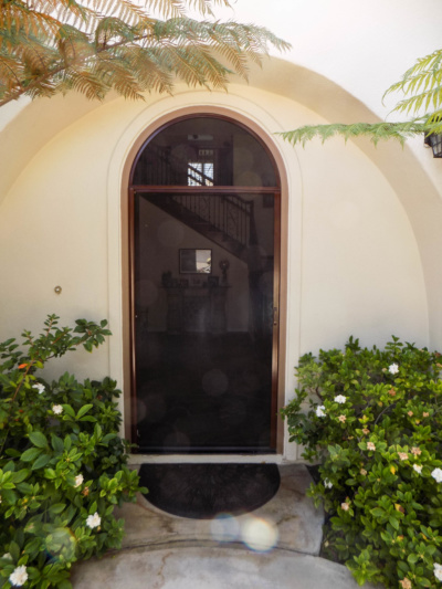 Arched Single Door StowAway Retractable Screen