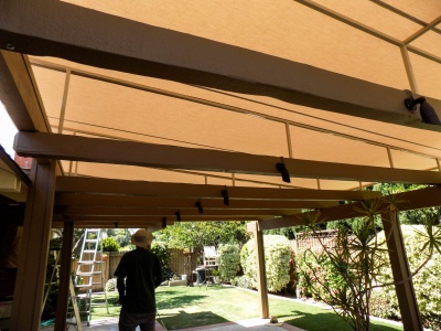 Sloped Trellis Awning Covers