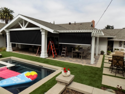 Patio Motorized Power Screens in Fullerton