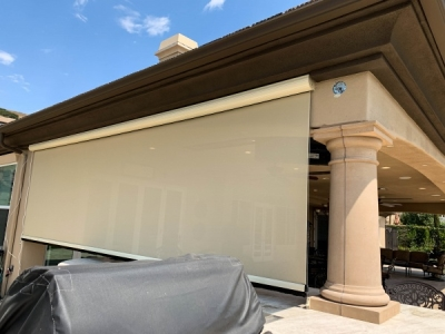 Outdoor Patio Motorized Power Screen