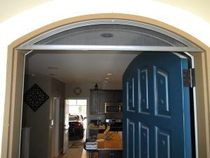 Single Front Door StowAway Arched Retractable Screen